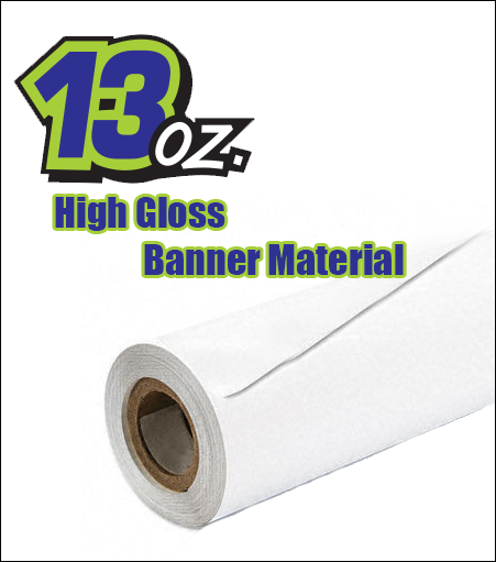 13oz High Gloss Color Banner Material (By the Roll)