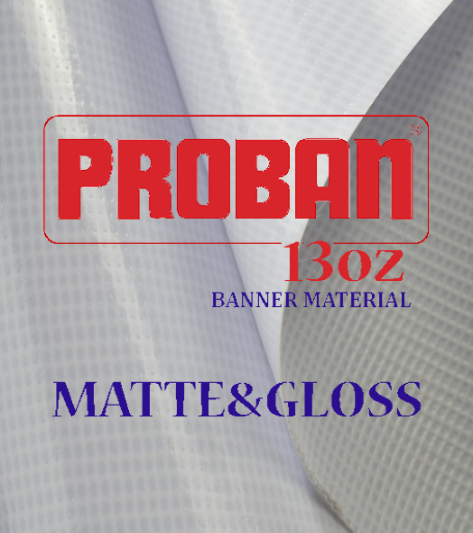ProBan® Premium 13 oz Single Side Sided Banner Material