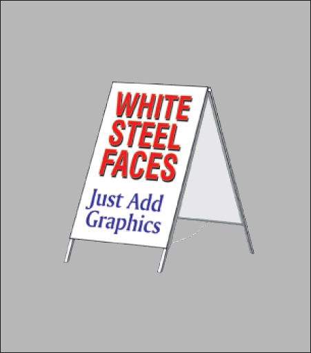 Steel A-Frame Sign