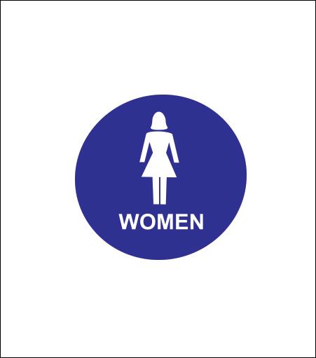 """12"""" Women Sign"""