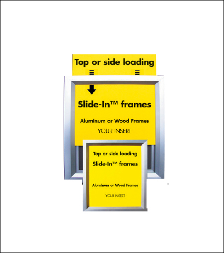 "Aluminum ""Slide-In"" Display Frame"