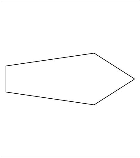 Corrugated Arrow Shape