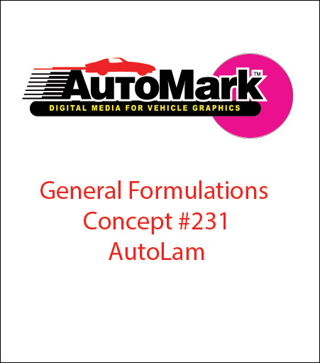 CONCEPT® 231 AUTOMARK™ Clear Calendered Wrap LAMINATE