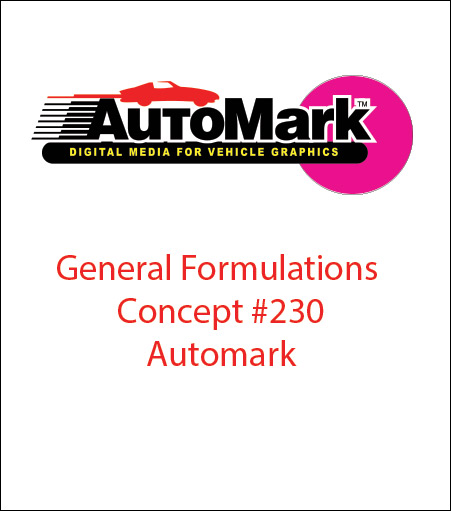 General Formulations® 230 AUTOMARK™ White Calendered Wrap Vinyl