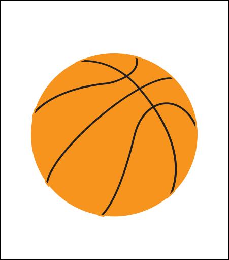 Printed Corrugated Shape - Basketball