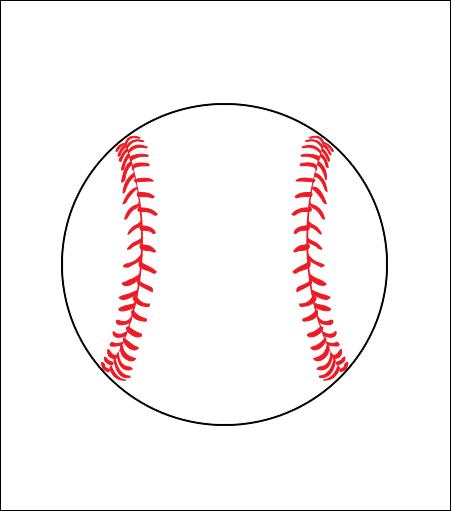 Printed Corrugated Shape - Baseball