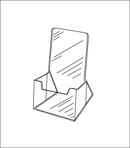 Medium Countertop Acrylic Brochure Holder