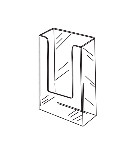 Small Wallmount Acrylic Brochure Holder
