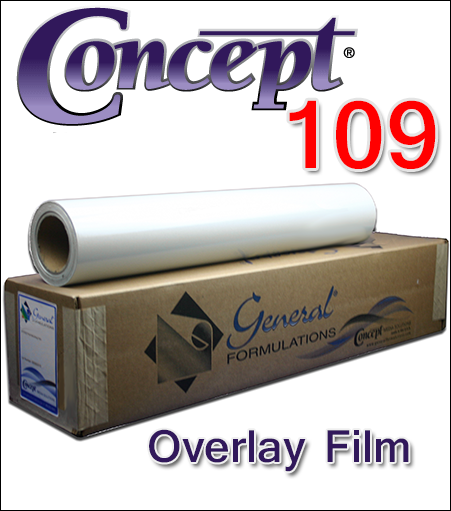 General Formulations® 109 Scratch Resistant Overlay Film