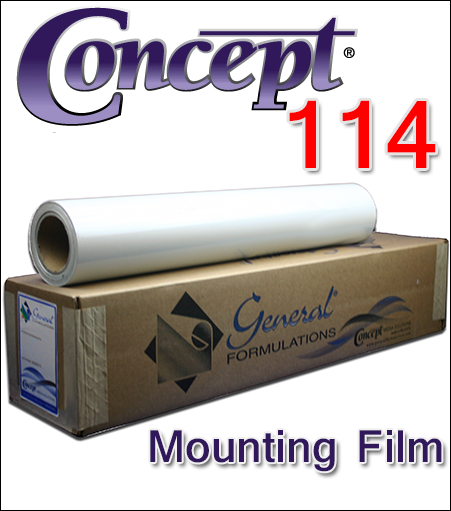 General Formulations® 114 Clear Glass Mounting Film