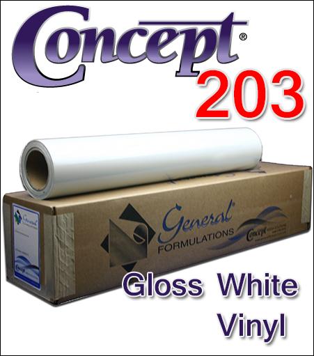 General Formulations® 203 Gloss White Vinyl