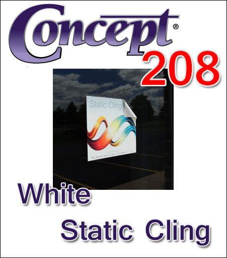Concept® 208 White Static Cling Vinyl