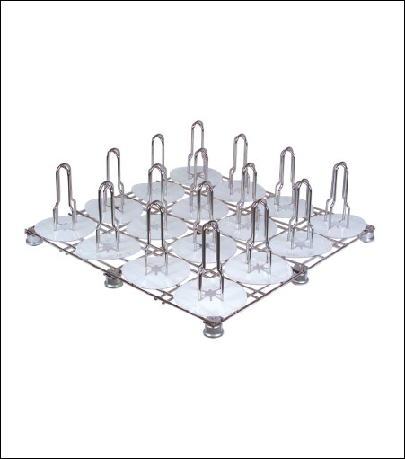 Chrome Plated Floor Rack