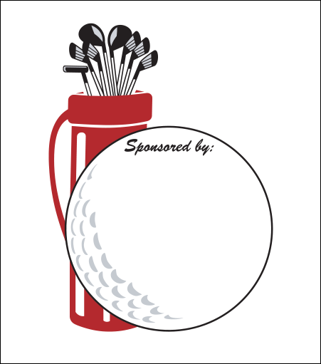 Printed Corrugated Shape - Golf Ball Bag (Sm)