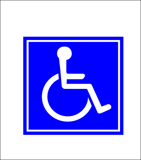 Handicap Sticker