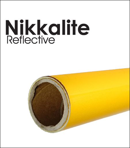 Nikkalite™  Reflective Fluorescent YELLOW GREEN Fleet Grade (By the Roll)