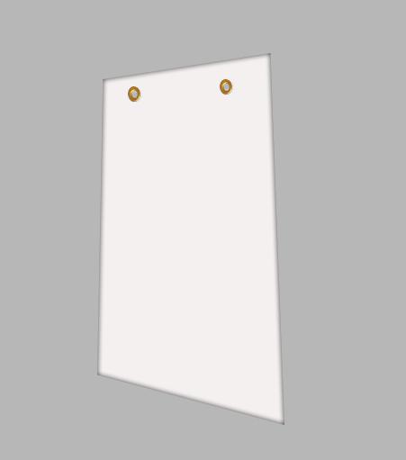 """1/8"""" White PVC Insert Sign Blank"""