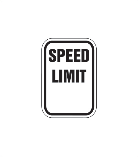 """Speed Limit ___"" Regulatory Sign"