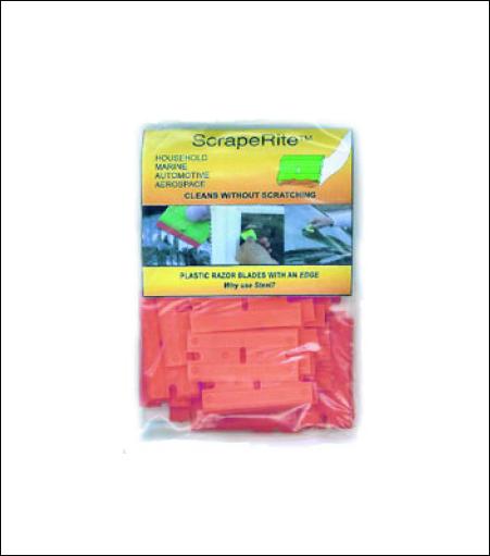 ScrapeRite™ Double Edge Plastic Razor Blades 50 Pack