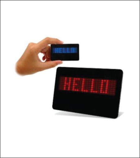 Scrolling LED Name Badge