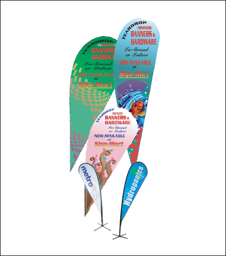 Teardrop Wind Banners