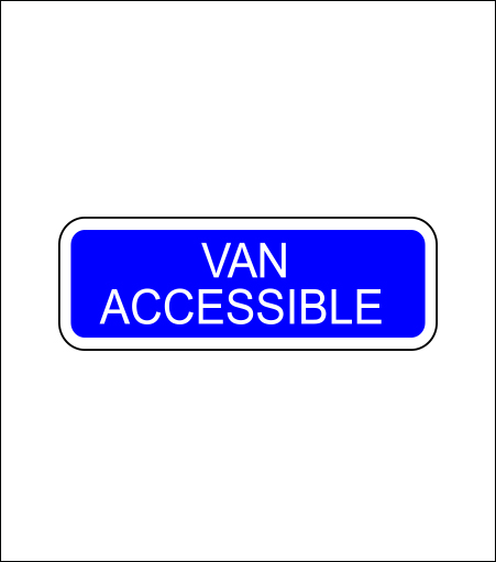 Van Accessible Regulatory Sign