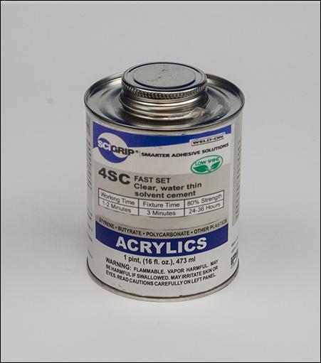 Weld-On #4SC Acrylic Plastic Cement Glue