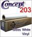 Concept 203 Gloss White Vinyl