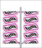Double Pole Banner Bracket System