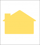 Blank Corrugated Shapes - House