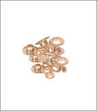 Gold Self Piercing Brass Grommets