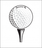 Printed Corrugated Shape - Golf Ball Tee