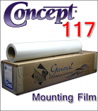 Concept® 117 Clear Glass Mounting Film