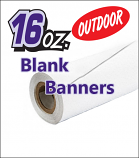 16oz Outdoor Blockout Vinyl Banner Blanks