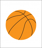Printed Corrugated Shape - Basketball