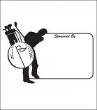 Printed Corrugated Shape - Golf Sign