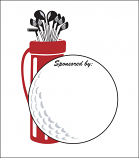Printed Corrugated Shape - Golf Ball Bag (Lg)