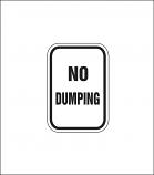 """No Dumping"" Sign"