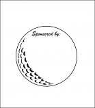Printed Corrugated Shape - Golf Ball