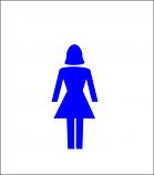 "5"" Women Acrylic Symbol"
