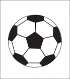 Printed Corrugated Shape - Soccer Ball