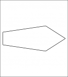 Corrugated Arrow Shape