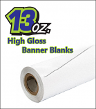 13oz High Gloss Blank Banners