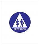 "12"" Unisex Restroom Sign"