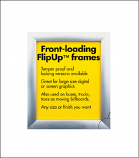 "Aluminum ""Flip-Up"" Display Frames"