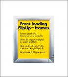 "Aluminum ""Flip-Up"" Display Frames"
