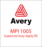 Avery© MPI 1105 Supercast Easy Apply RS™