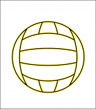 Printed Corrugated Shape - Waterpolo Ball