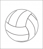 Printed Corrugated Shape - Volleyball