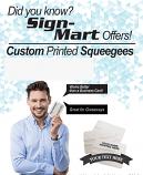 200 Custom Printed Squeegees